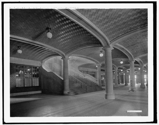 Lobby stairs to waiting room and concourses, C. & N.W. Ry. [Chicago and North Western Railway station], Chicago, Ill.