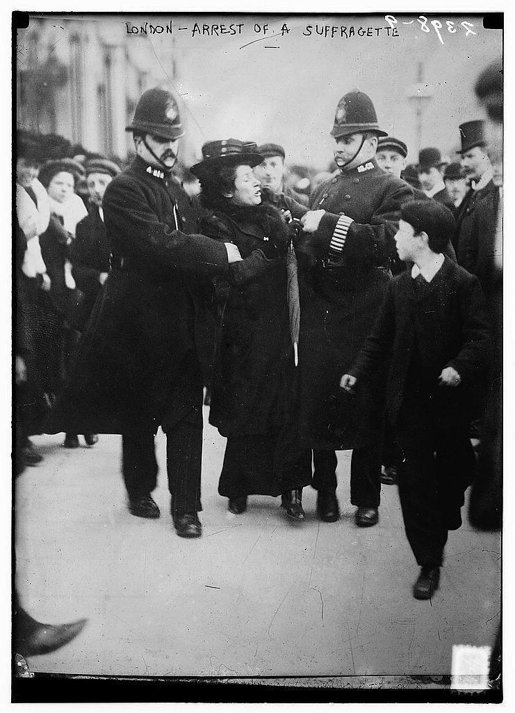 London - arrest of a suffragette