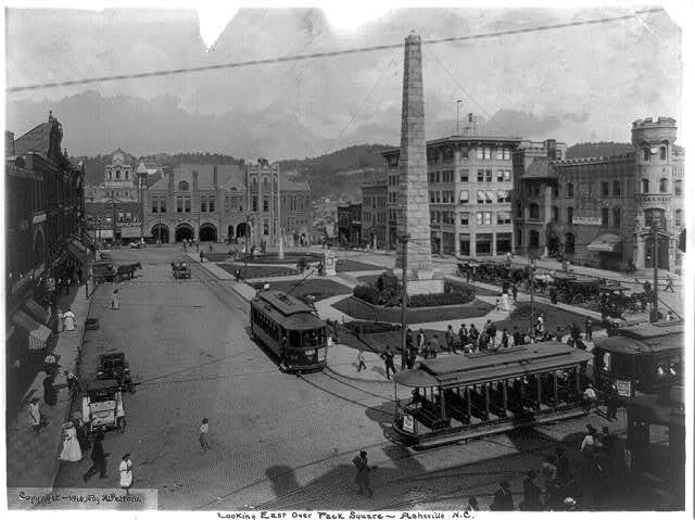 Looking east over Pack Square, Asheville, N.C. / H.W. Pelton.