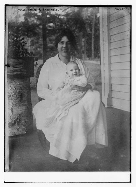 Louise Homer and Baby Helen
