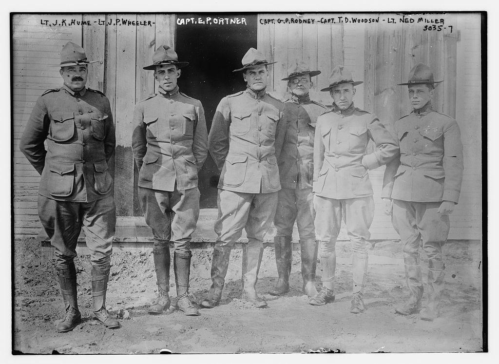 Lt. J.K. Hume -- Lt. J.P. Wheeler -- Capt. E. Portner -- Capt. G. P. Rodney -- Capt. T.D. Woodson -- Lt. Ned Miller