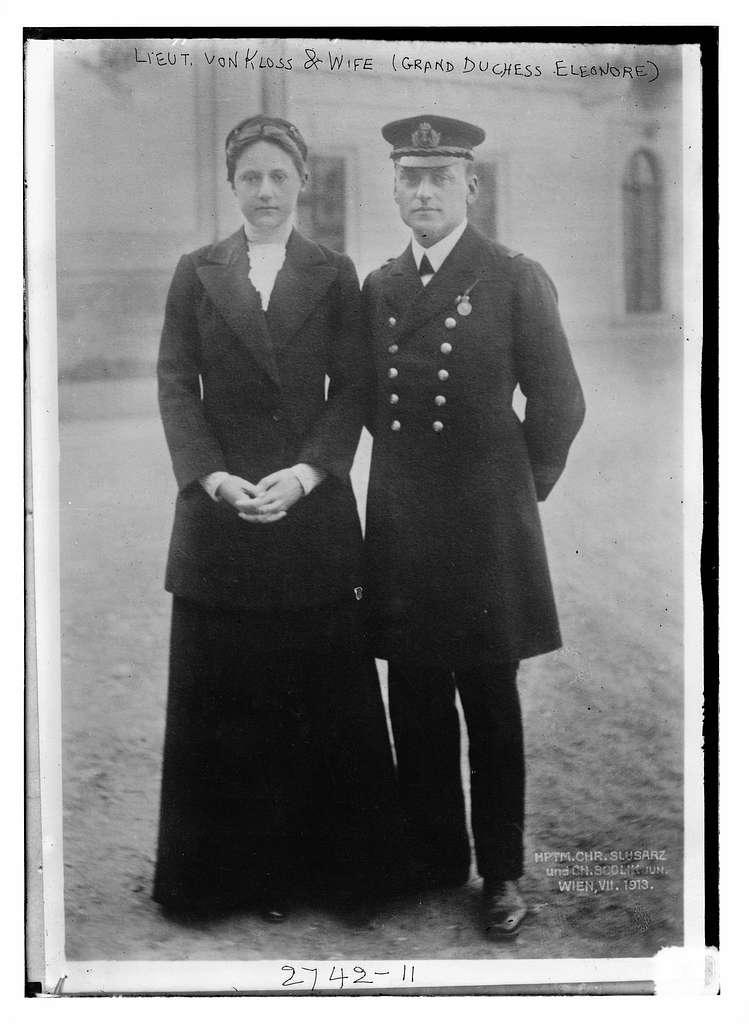Lt. Von Kloss and wife (Grand Duchess Eleanore)