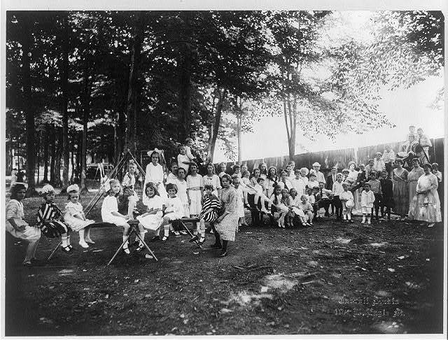 Lyceum children at play ground, Lily Dale, N. Y.