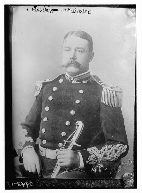 Maj. Gen. W.F. [i.e., P.] Biddle