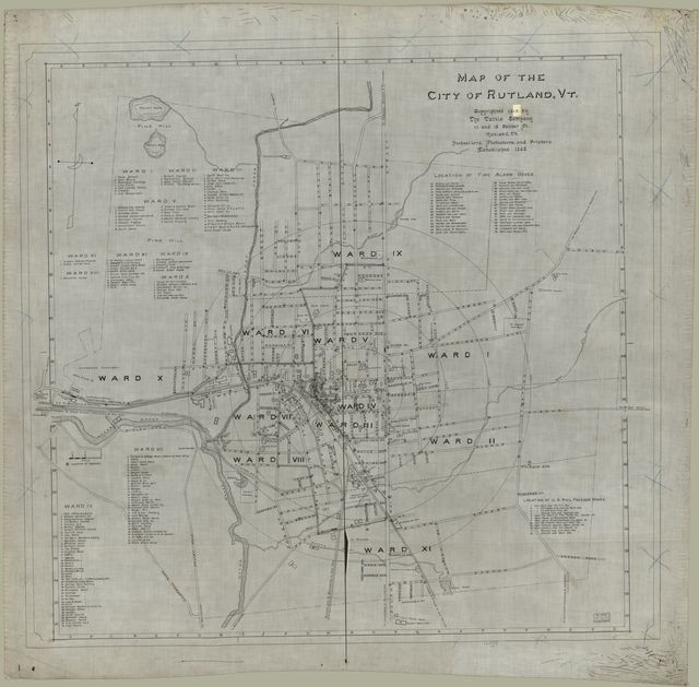 Map of the city of Rutland, Vt.