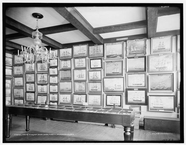 Marine Room, [East India Marine Hall], old Salem ships,Peabody Museum, Salem, Mass.
