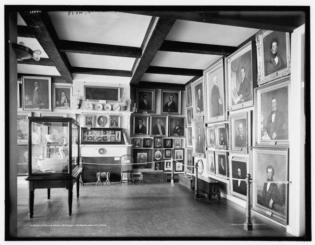 Marine Room, [East India Marine Hall], Peabody Museum, Salem, Mass.