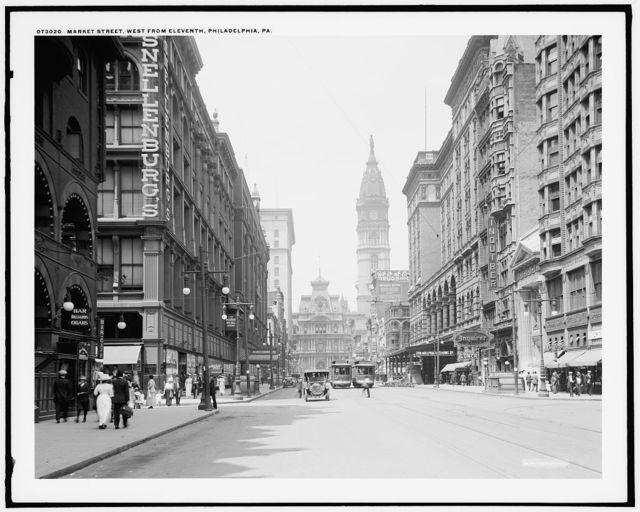 Market Street, west from Eleventh, Philadelphia, Pa.