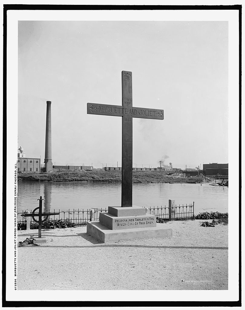 Marquette and Joliet Cross (head of drainage canal), Chicago, Ill.