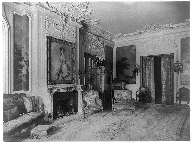 Mary Scott Townsend House, Wash., D.C.: Living room with fireplace