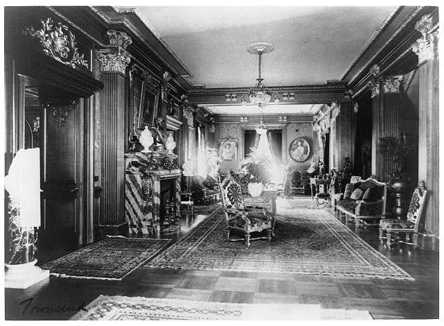 Mary Scott Townsend House, Wash., D.C.: Lobby with fireplace