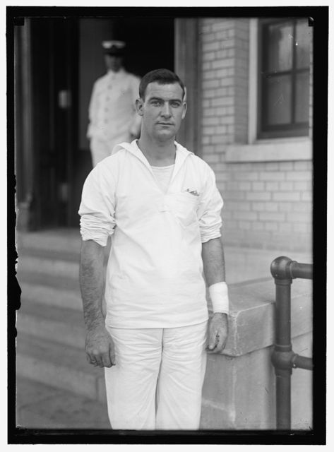 MEMPHIS, U.S.S., W. PHILLIPS, ONE OF WOUNDED SAILORS