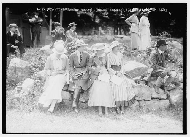 Miss Hewitt -- Margaret Mason -- Helen Hoadley -- Jennette Gourd