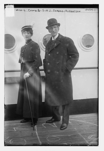 Miss L. Cowie and Sir J. Forbes- Robertson