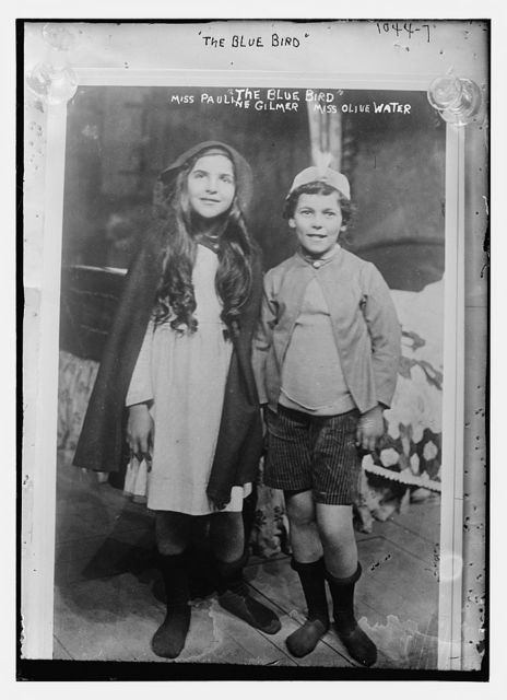 """Miss Pauline Gilmer and Miss Olive Water in the """"Blue Bird"""""""