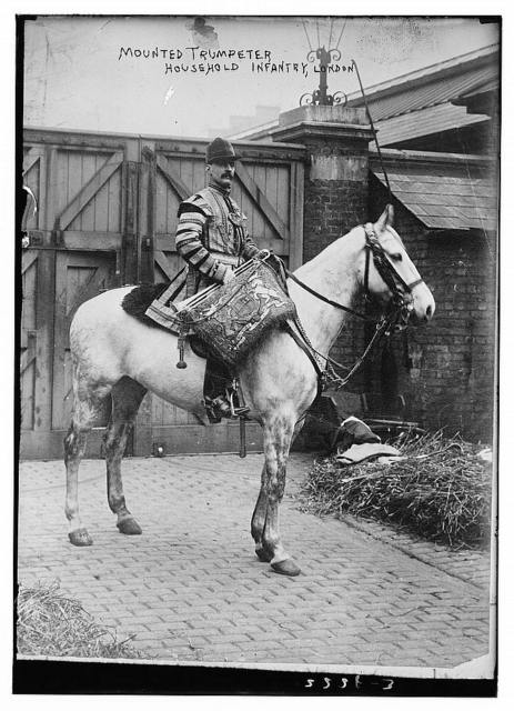 Mounted Trumpeter, Household Infantry, London