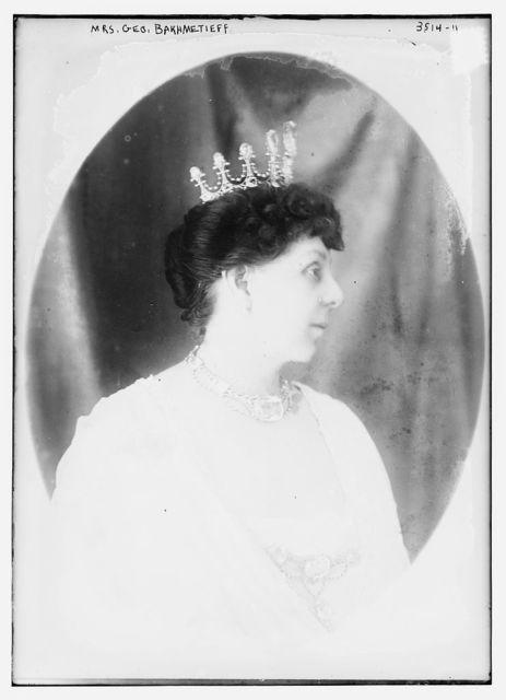 Mrs. Geo. Bakhmetieff [i.e., Bakhmeteff]