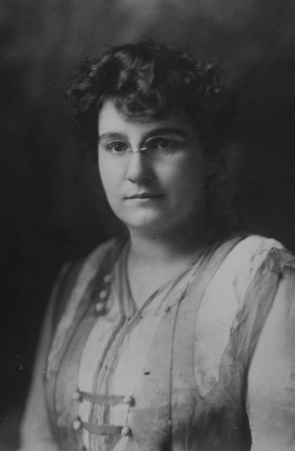 Mrs. Gertrude Hunter of Minnesota is one of the national organizers of the Congressional Union for Woman Suffrage.  Mrs. Hunter was formerly Secretary of the Minnesota Woman Suffrage Association ands is the founder of the Minneapolis Women Workers Suffrage Club.