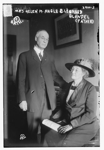 Mrs. Helen M. Angle and Leonard Blondel (Father)