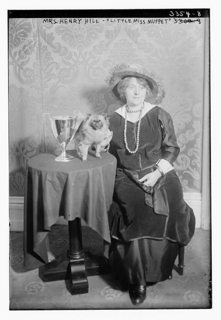 """Mrs. Henry Hill -- """"Little Miss Muffet"""" -- pet"""