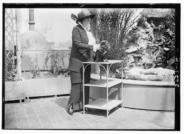 Mrs. Malcolm Strauss and pet