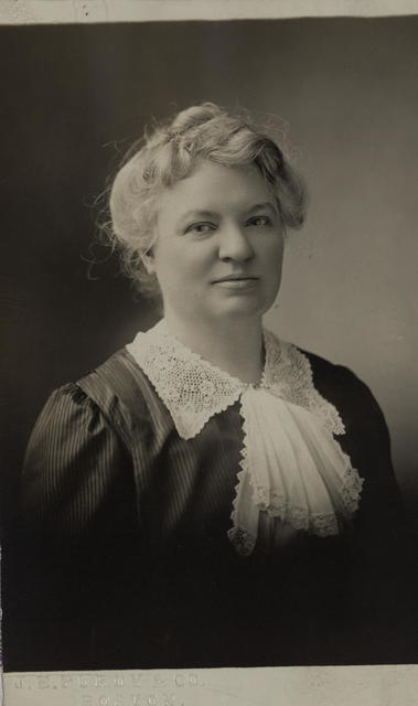 Mrs. Mary Hutcheson Page of Boston, Mass.  Mrs. Page is President of the Brookline Woman Suffrage Association. She is one of the most active workers for the national suffrage amendment.