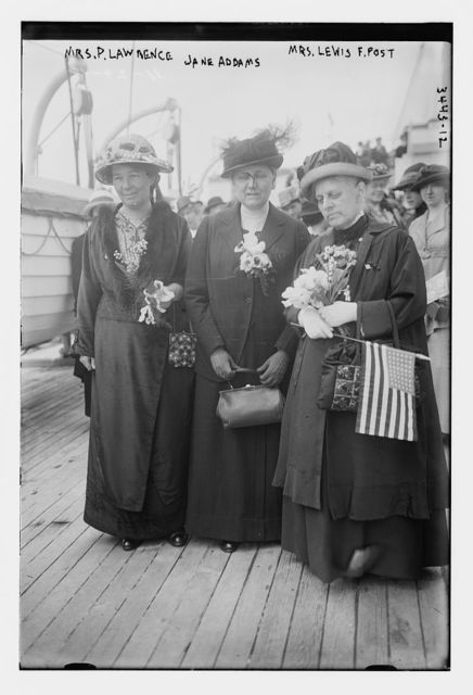 Mrs. P. Lawrence, Jane Addams, Mrs. Lewis F. Post