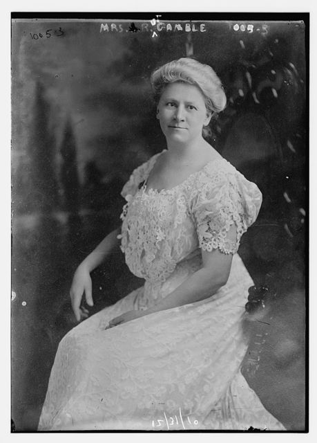Mrs. Robt. Gamble seated