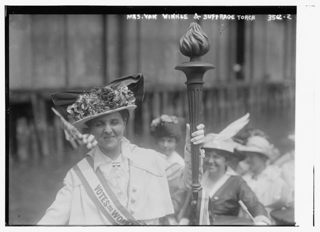Mrs. Van Winkle and Suffrage torch