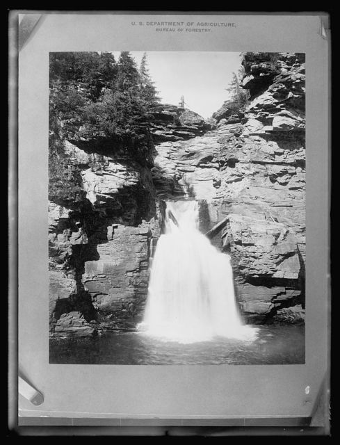 Mt. Mitchell Reservation, lower falls of the Luisville River, Mitchell County, N.C.