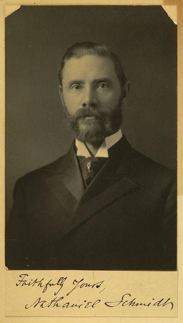 Nathaniel Schmidt, Photograph and Signature