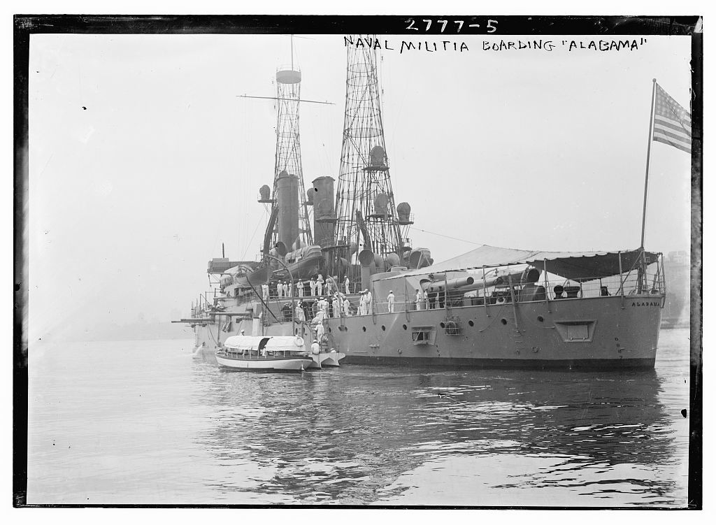 Naval Militia boarding ALABAMA