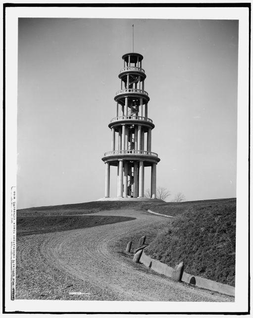 New concrete observatory tower, Vicksburg, Miss.