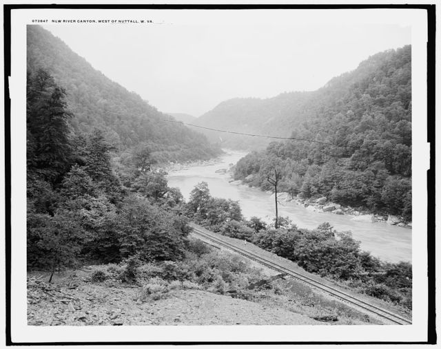 New River canyon, west of Nuttall [Station], W. Va.
