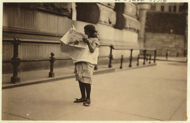 Newsgirl, Park Row.  Location: New York, New York (State)