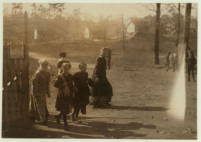 Noon-hour Indian Head Cotton Mills. Some of the girls are much younger than these.  Location: Cordova, Alabama.