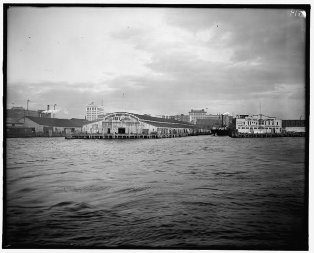 [Norfolk, Va., Bay Line wharf]