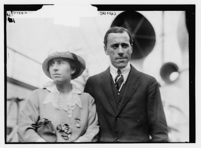 Norman Brooks and wife