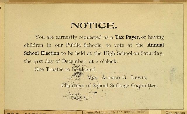 Notice- Annual School election