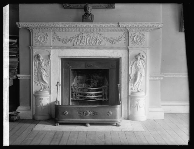 Octagon House, [Washington, D.C.], mantel in parlor