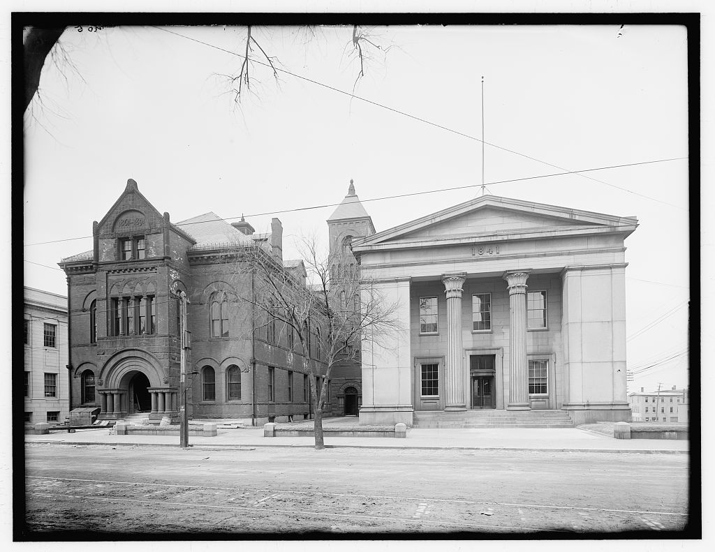 [Old and new Essex County courthouses, Federal Street, Salem, Mass.]