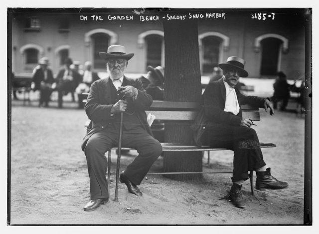 On the Garden Bench -- Sailor's Snug Harbor