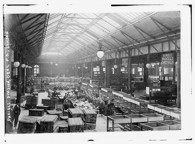 Parcels division, Gen'l P.O., London