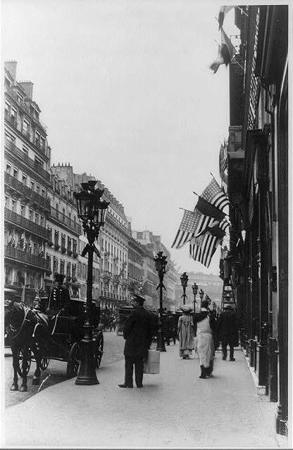 Paris, France. Rue de la Paix decorated for Theo Roosevelt