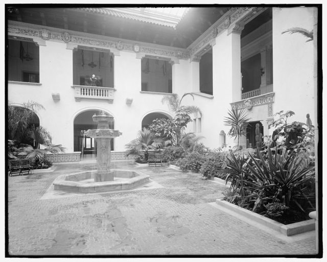 [Patio and central fountain, International Bureau of American Republics (Pan American Union), Washington, D.C.]