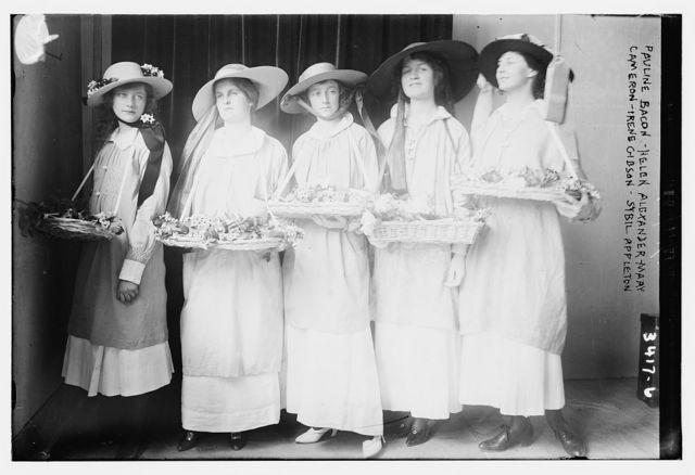 Pauline Bacon -- Helen Alexander -- Mary Cameron--Irene Gibson -- Sybil Appleton