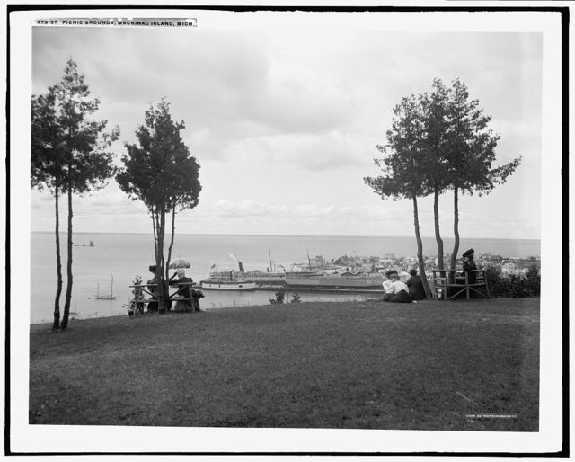 Picnic grounds, Mackinac Island, Mich.