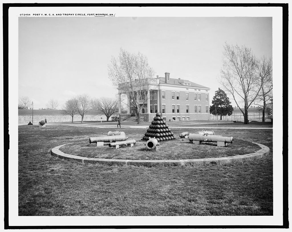 Post Y.M.C.A. and trophy circle, Fort Monroe, Va.