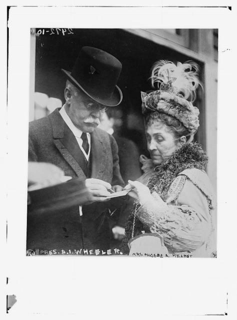 Pres. B.I. Wheeler and Mrs. Phoebe A. Hearst