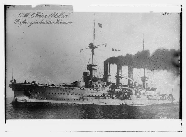 PRINCE ADALBERT German heavy cruiser